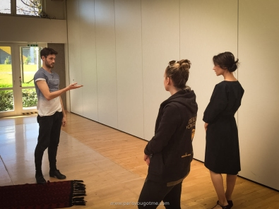 rehearsal with the dancers
