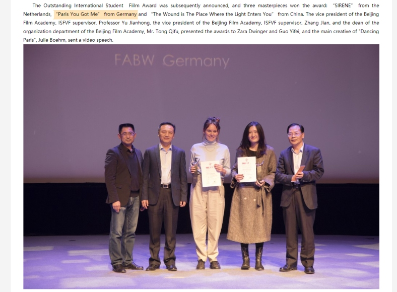 Paris you got me winning the Outstanding International Student Film Award..jpg