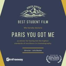 Geometric Film Fest Award Certificate