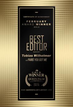 Best Editing - Short Film Tobias Wilhelmer