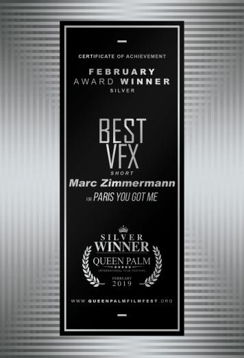 SILVER Best Visual Effects - Short Film Marc Zimmermann