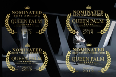 nominated for 4 AWARDS at the Queen Palm International Film Festival