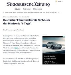 Süddeutsche Zeitung Presseartikel