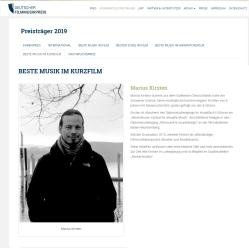 Deutscher Musikfilmpreis Website Vorstellung Marius Kirsten